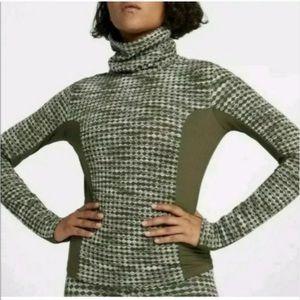 Nike Pro Hyperwarm Soft Green Turtleneck Pullover